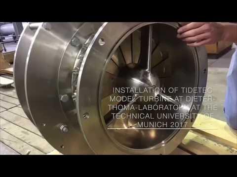 Installation of Tidetec model turbine at TUM 2017