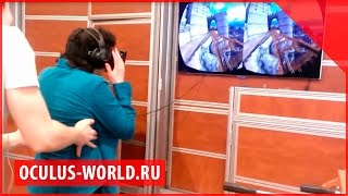 Oculus Rift тест проба в первый раз | Окулус Рифт тележка аттракцион ощущения впечатления смешно(Вступайте в нашу группу - http://vk.com/vrstoreru ▻▻▻ Сайт виртуальной реальности в России - http://vrstore.ru Россия:..., 2014-09-01T15:40:42.000Z)