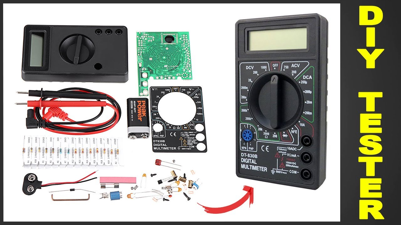 DIY Multimeter DT830 Electronic KIT for Beginners - by Circuit-Pop
