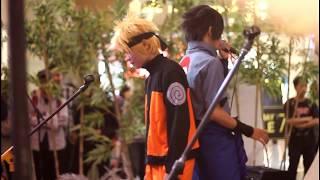 "Naruto Shippuden Opening 6 Flow-Sign ""song cover"" cosplay naruto and sasuke @blok m plaza"