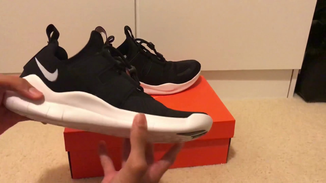 43008137ecb5d NIKE FREE RN COMMUTER 2018 ( BLACK   WHITE ) REVIEW - YouTube