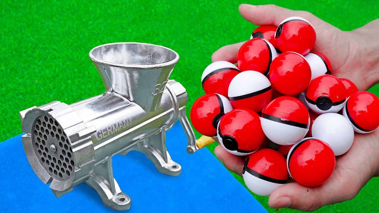 EXPERIMENT POKEMON CANDY VS MEAT GRINDER