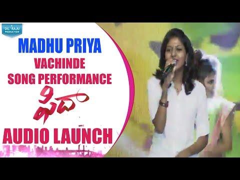 Singer Madhu Priya Song Performance @ Fidaa Audio Launch | Varun Tej, Sai Pallavi | Sekhar Kammula