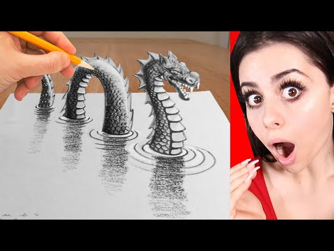 How To Draw 3D REALISTIC ART On Paper - tricks, illusions and tutorials