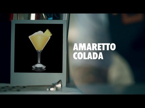 AMARETTO COLADA DRINK RECIPE - HOW TO MIX