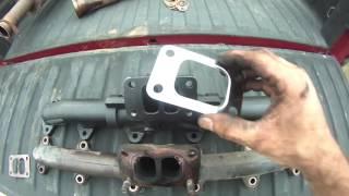 dps 3 pc exhaust manifold for dodge cummins 24v t3 1998 5 2002 2nd gen fits oem 5014170ac