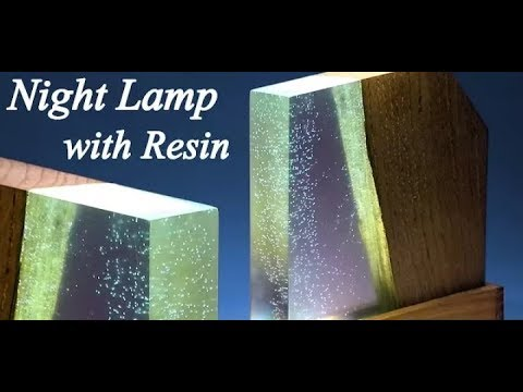 How to Make Night Lamp From Resin and Wood
