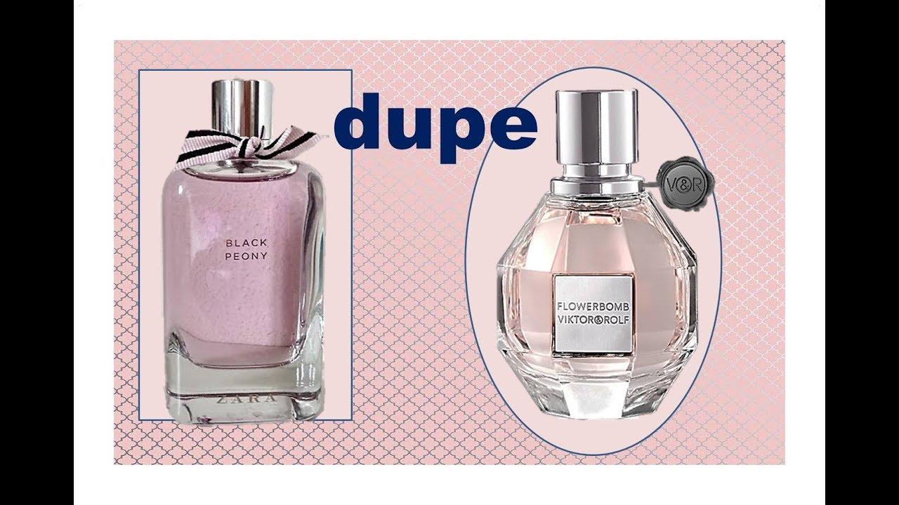Black Flower De Dupe Zara Peony Para Perfume And Rolf Viktor Bomb m0wnN8