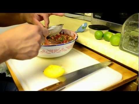 Making the best homemade Fresh Salsa with Chef Ruben