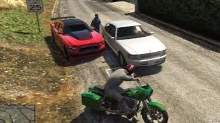 GTA 5 BIG FIGHT MICHAEL VS FANKLIN BIG MEETING