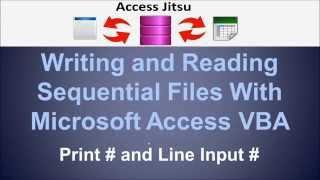 Writing and Reading Sequential Files with Microsoft Access VBA