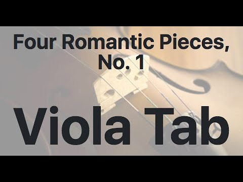 Learn Four Romantic Pieces, No. 1 on Viola - How to Play Tutorial