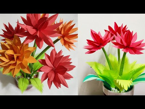 DIY-paper flowers guldasta/making paper flowers bouquet/bouquet making/handmade guldasta