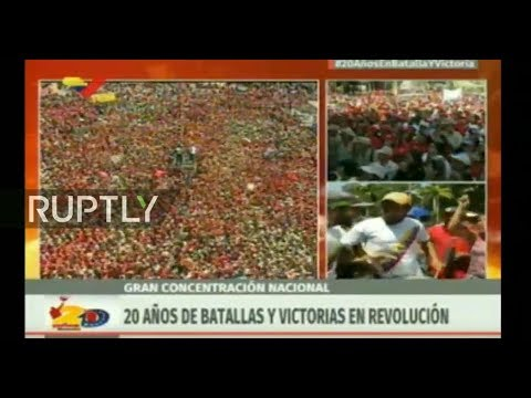 LIVE: Pro-Maduro rally protests against opposition leader Juan Guaido