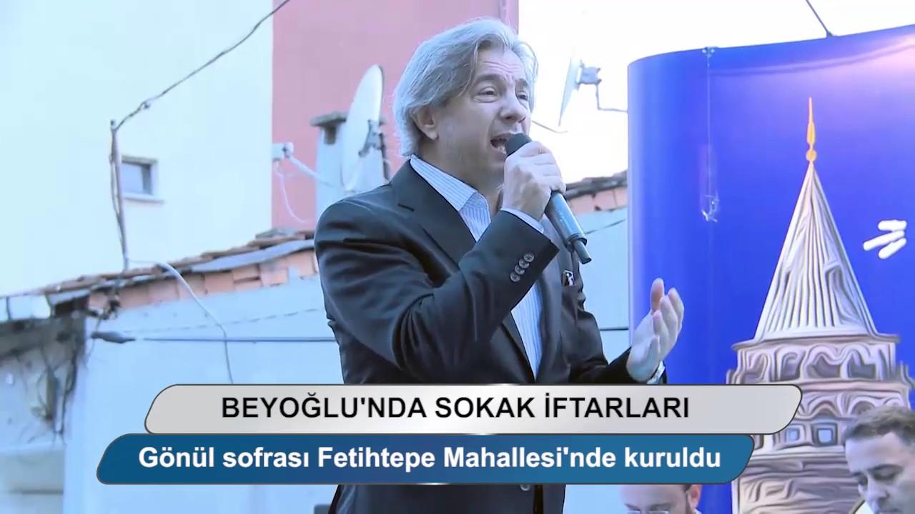 Beyoğlu'nda sokaklar iftar sofraları ile şenleniyor