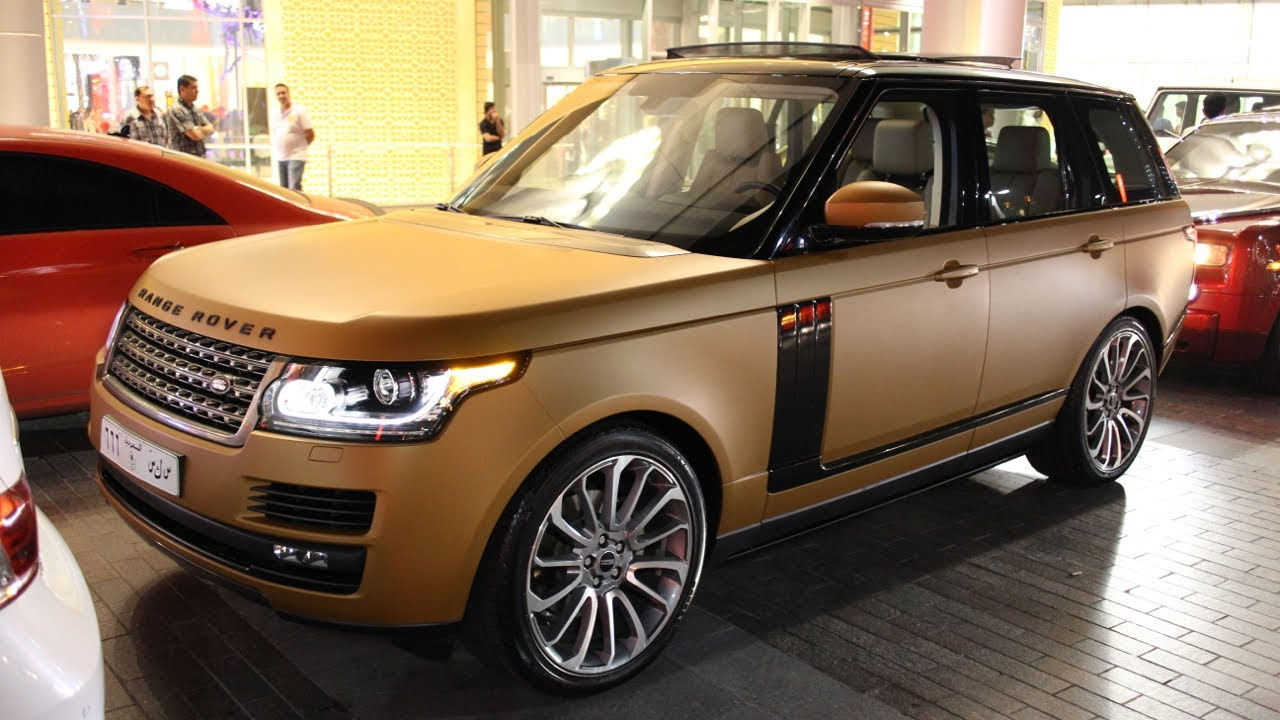 Range Rover Matte Black >> Cappuccino/bronze frosted wrapped Range Rover Autobiography - YouTube