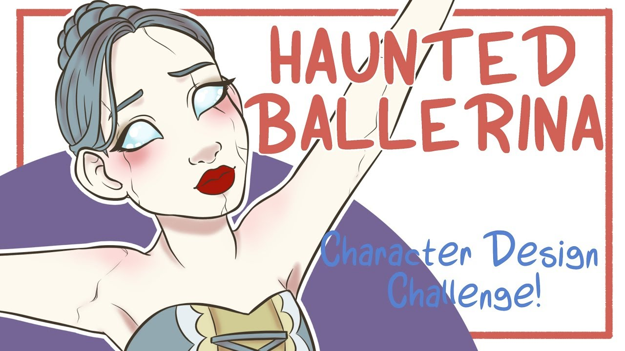 haunted ballerina - character design challenge - aesthetic (drawing