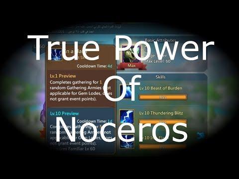 Lords Mobile : NEW NOCEROS TRICK!!!! (BTA)لوردز موبايل - خدعة وحش النوسيروس