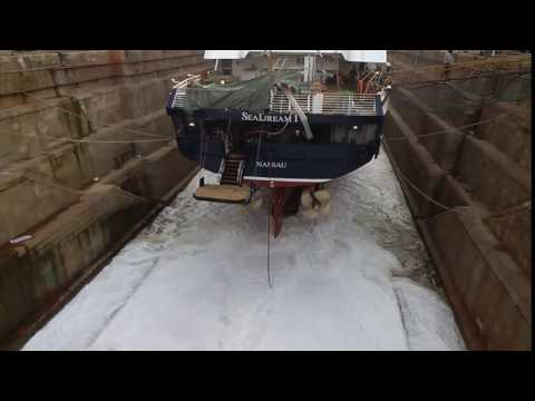 Flooding the dry dock