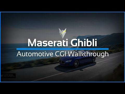 Maserati Ghibli CGI walkthrough