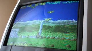 "Tecmo's ""Silk Worm"" 2.38 million points - Arcade played in EGRET II"