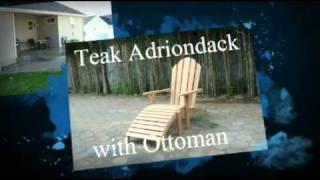 Teak Adirondack W/ottoman