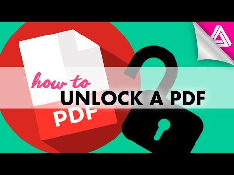 How To Unlock A PDF That's Password Protected