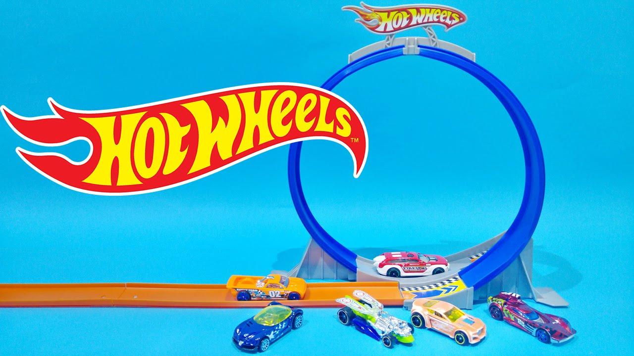 fd538a139c7b4 Hot Wheels City Loop And Jump Track Set ☆ 6 Hot Wheels Cars For ...