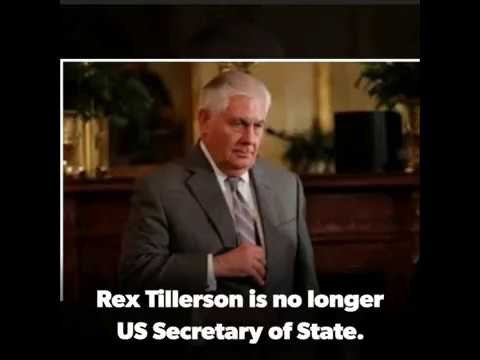 Donald Trump sacks Rex Tillerson, replaces him with CIA director Mike Pompeo