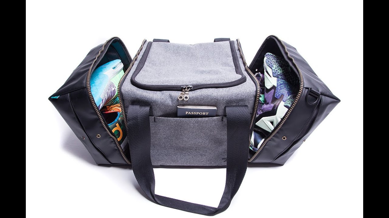 7e1a1394cbb1 The Shrine Sneaker Back Pack and Sneaker Duffel Bag - YouTube