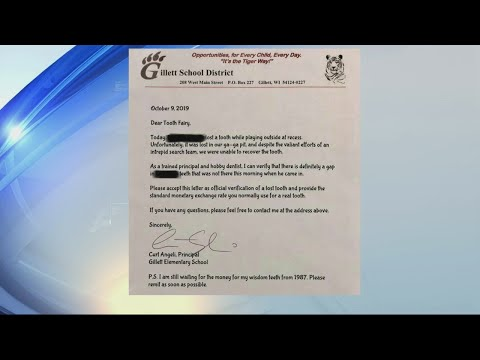 Pet Central - Principal pens letter to Tooth Fairy after student loses lost tooth