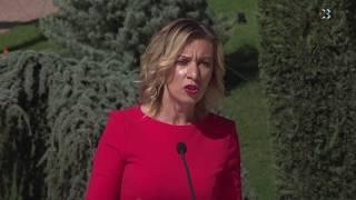 Официальный представитель МИД Мария Захарова вновь дала брифинг в Крыму