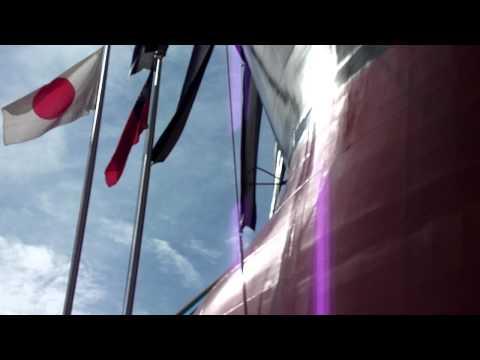 Launching Ceremony at Tsuneishi Shipyard