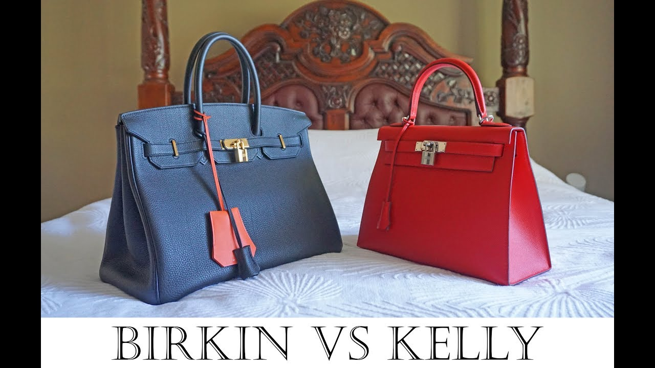 Hermes Birkin Vs Kelly Bag Detailed