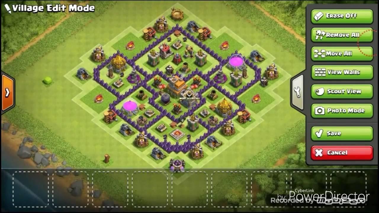 Base Coc Th 7 Terkuat Anti Naga Dan Giant 3