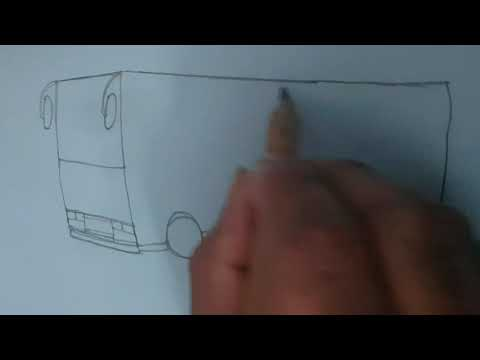 How to Draw a bus -Easy bus drawing for kids