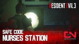 RE3 Nurses Station Safe Code Hospital - Resident Evil 3 Remake