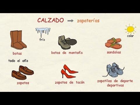 973a9e30bdb Aprender español  El calzado y los complementos (nivel básico) - YouTube