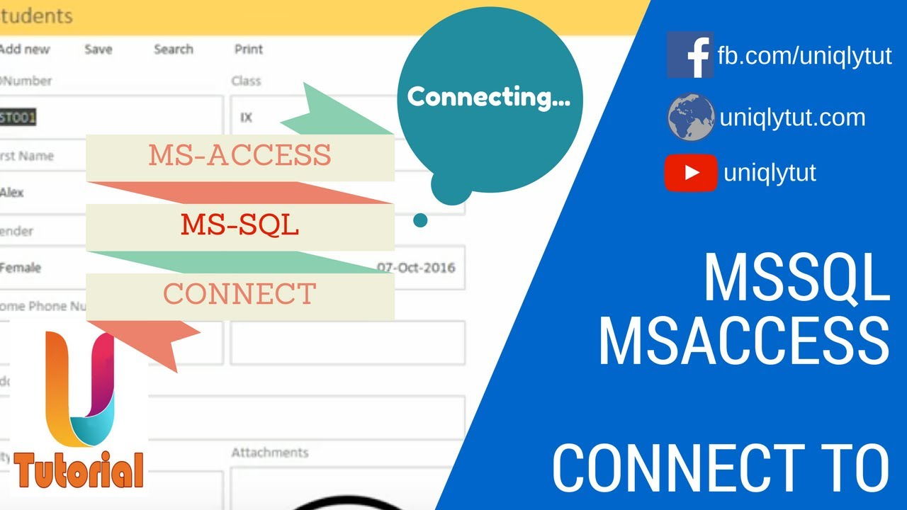 Connect MS Access Database to MS SQL Server Using ODBC