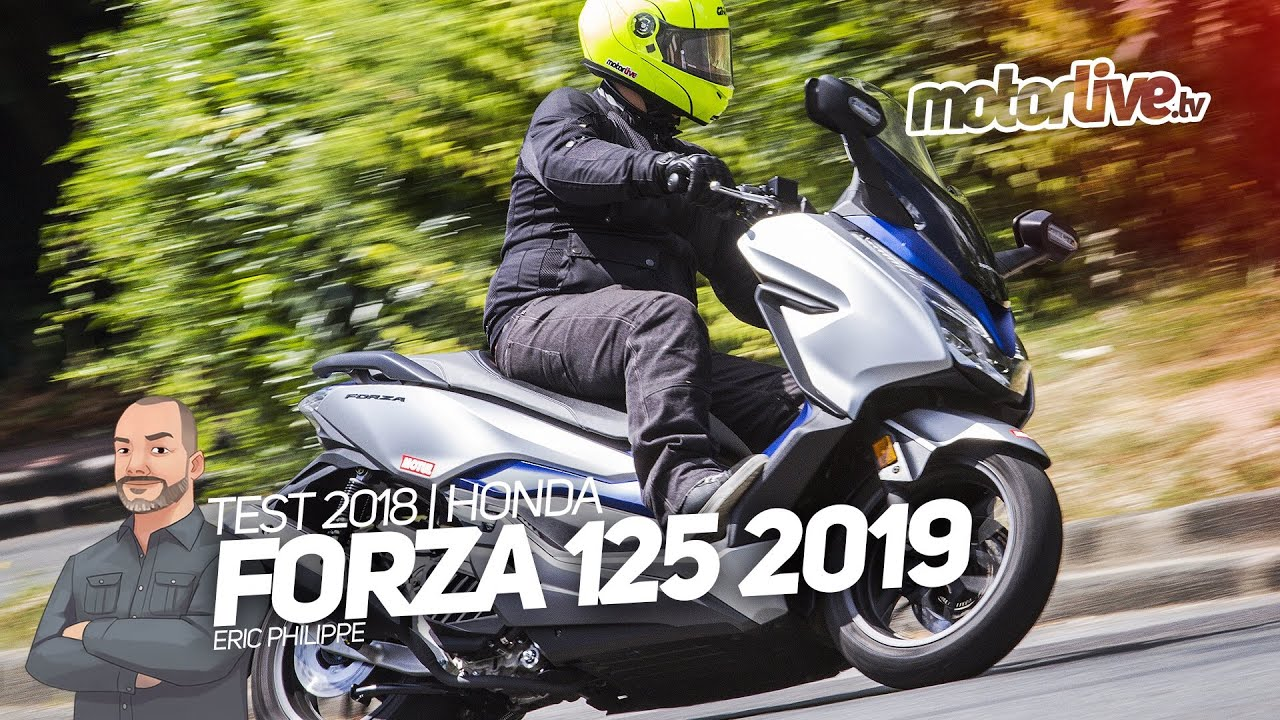 honda forza 125 2019 toujours plus fort test 2018. Black Bedroom Furniture Sets. Home Design Ideas