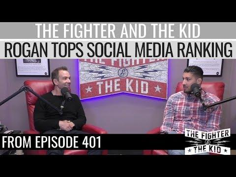 Joe Rogan Leads Top Comedians Social Media Ranking | TFATK Highlight