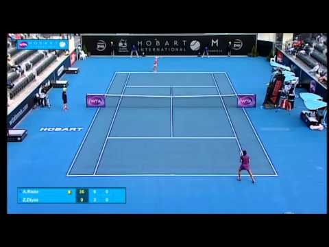 Alison Riske v Zarina Diyas: Match Highlights (QF) - Hobart International 2015