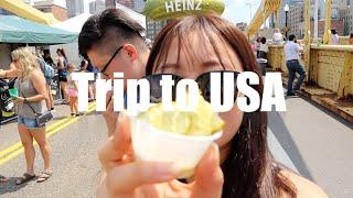 미국 한달살기 Vlog 1탄 - 중화항공, NYC에서 …