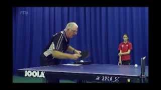 How to Return a Short Backspin Serve: Forehand Flick - Beginners Level with Jim Clegg