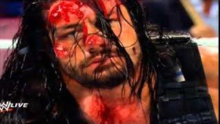 Most Brutal Dangerous Fight in WWE History Reigns vs Triple H Bloddy Match HD