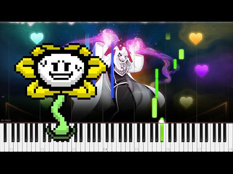 Undertale // Finale | LyricWulf Piano Tutorial on Synthesia // OST 80