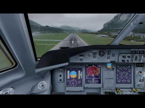 Prepar3D Majestic Software Dash 8-Q400 LNAV/VNAV App RWY 26 LOWI