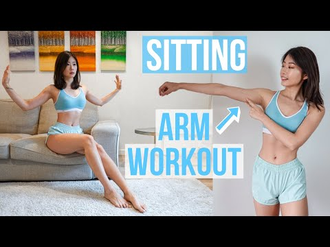 10 MIN SITTING ARM & SHOULDER WORKOUT (ON COUCH / BED WHILE WATCHING TV) Emi