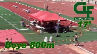 17' CIF SD T&F Finals-Boys 800m