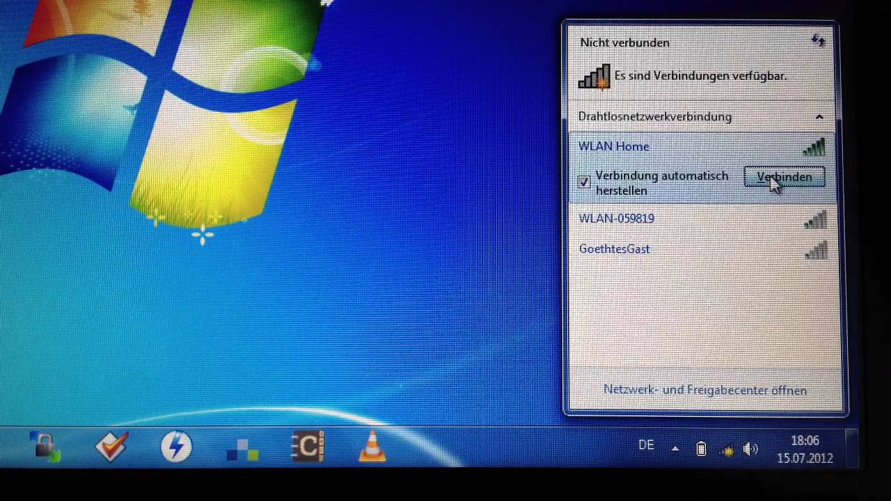 Wlan einrichten unter Windows - Anleitung: Wlan einreichten unter Windows -  Netzwerkumgebung